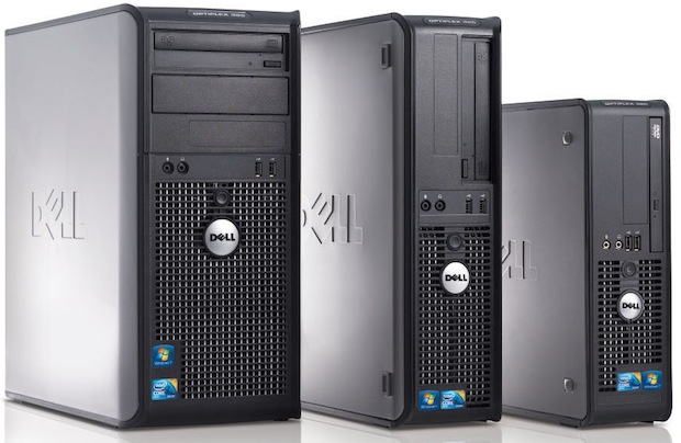 OptiPlex 380 family, featuring 380DT, 380MT and 380SFF.